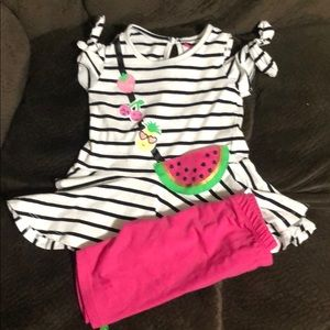 NWOT Nannette watermelon set sz 3t
